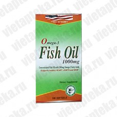 Омега 3  Fish oil Omega 3 1000mg  (Вьетнам) 100 капсул